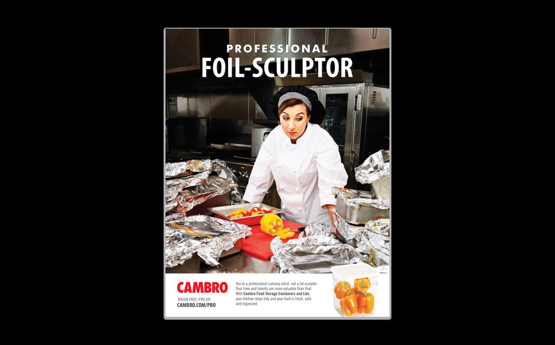 campaign print ad for Cambro