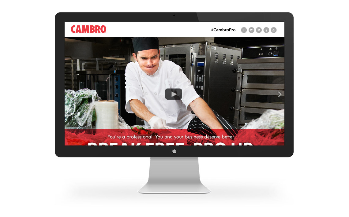 Cambro campaign landing page