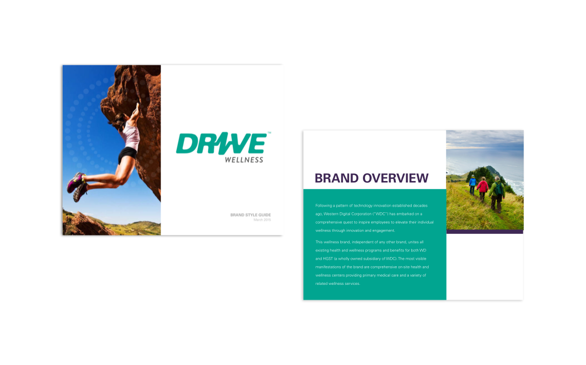 Drive Wellness style guide overview