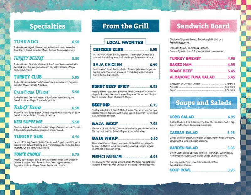 Board & Brew menu design