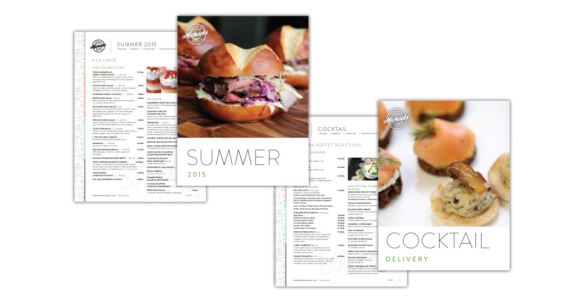 menus for summer and cocktail