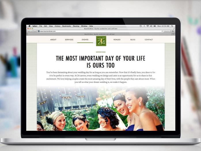 24 carrots website laptop mockup