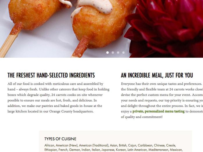 24 carrots website closeup