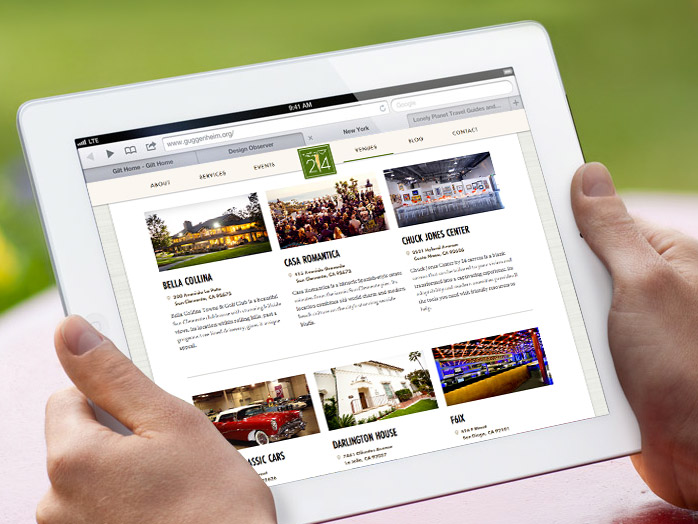 24 carrots tablet website design