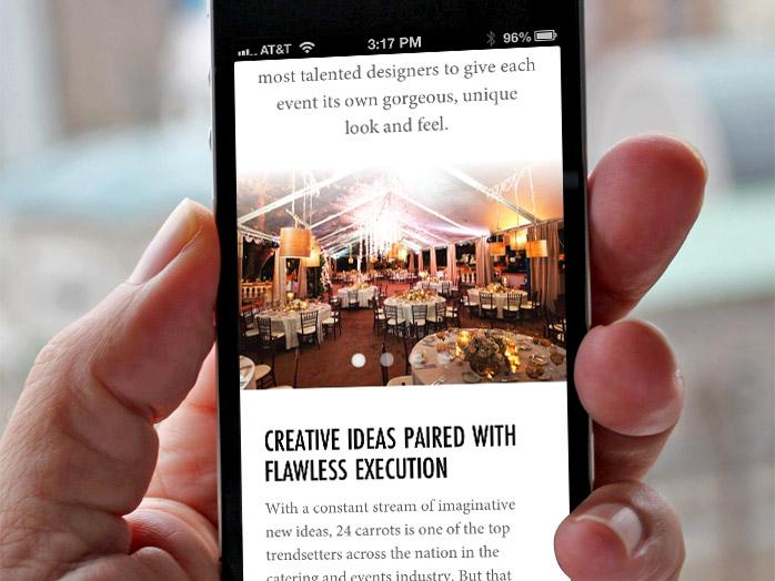 24 carrots mobile website screenshot