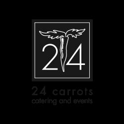 24 carrots black & white logo