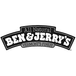 Ben & Jerry's black & white logo