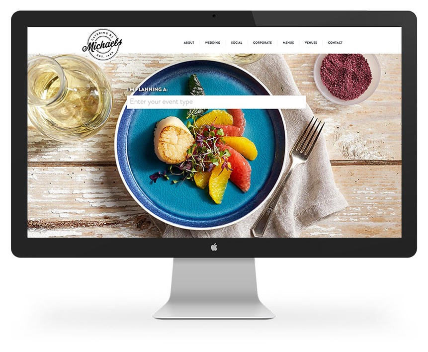 Chicago Catering Website Home Page