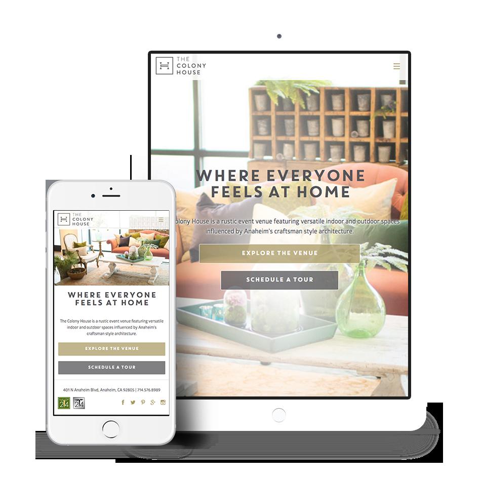 Branded Venue Responsive Web Design