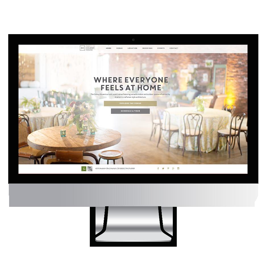 Venue Website Screenshot