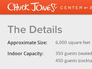 Chuck Jones Center website detail