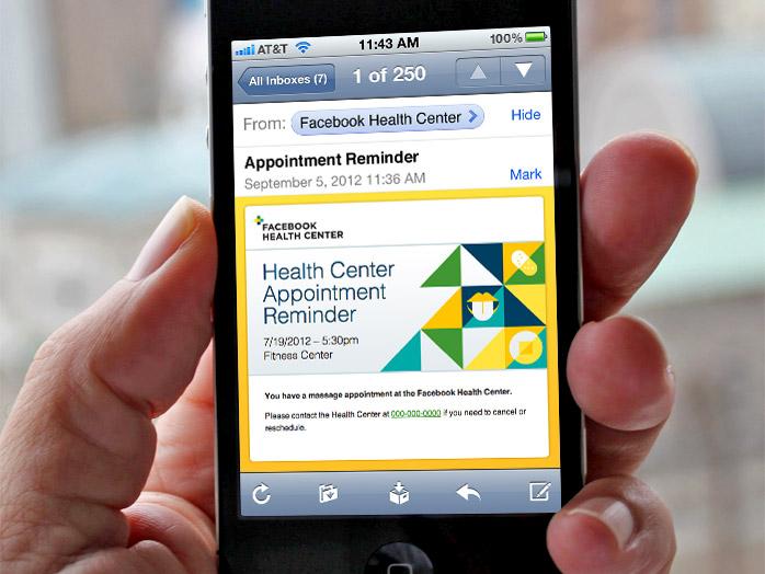 Facebook Health Center mobile app
