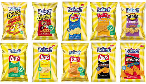 old baked lays packaging