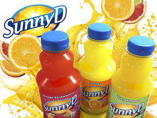 Sunny Delight juice graphics