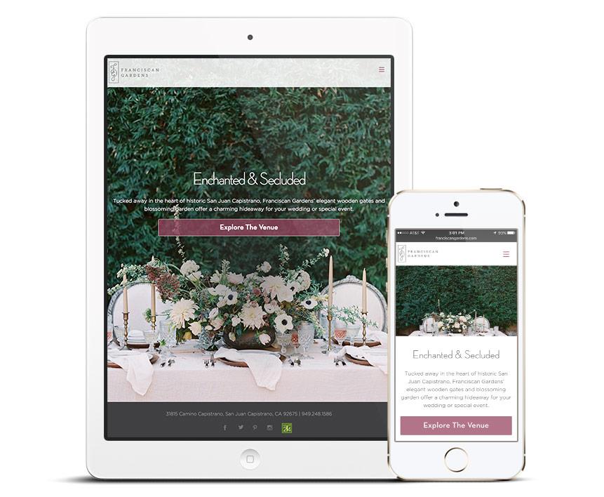 Franciscan Gardens Responsive Website