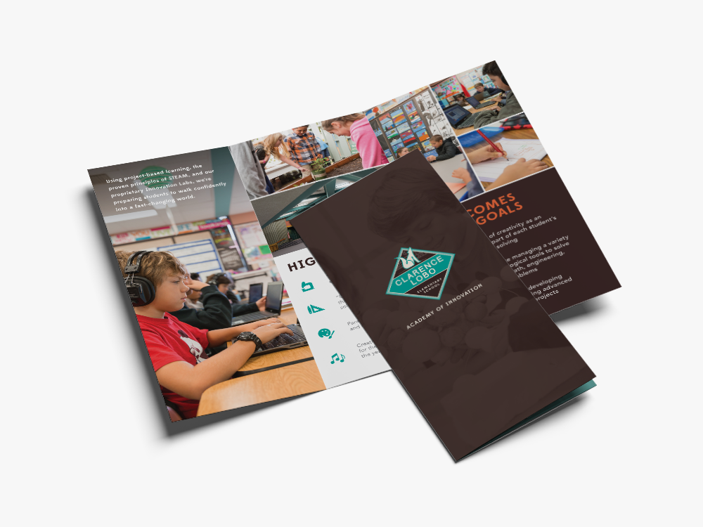 clarence lobo elementary brochure design