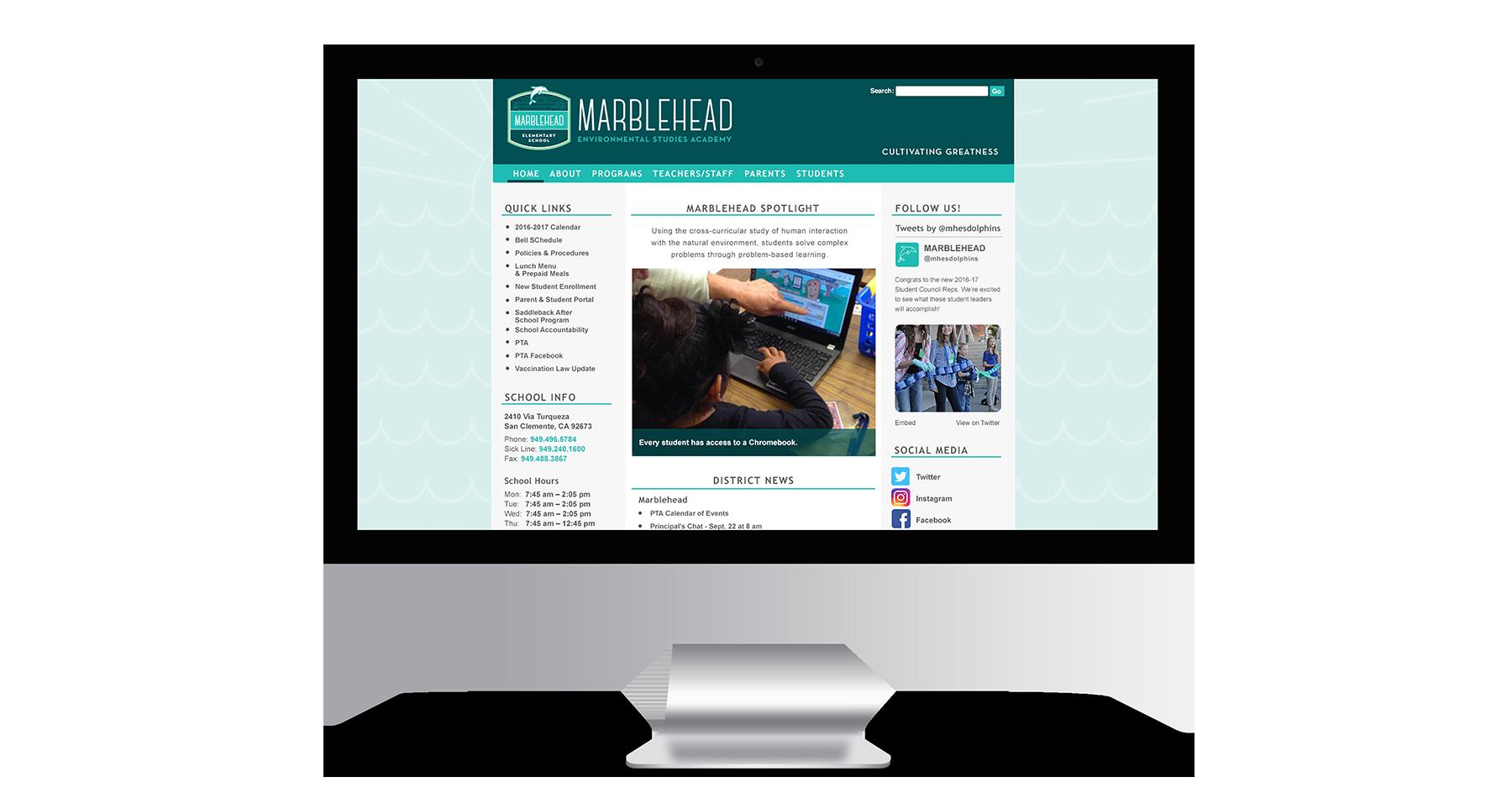 marblehead elementary school website design