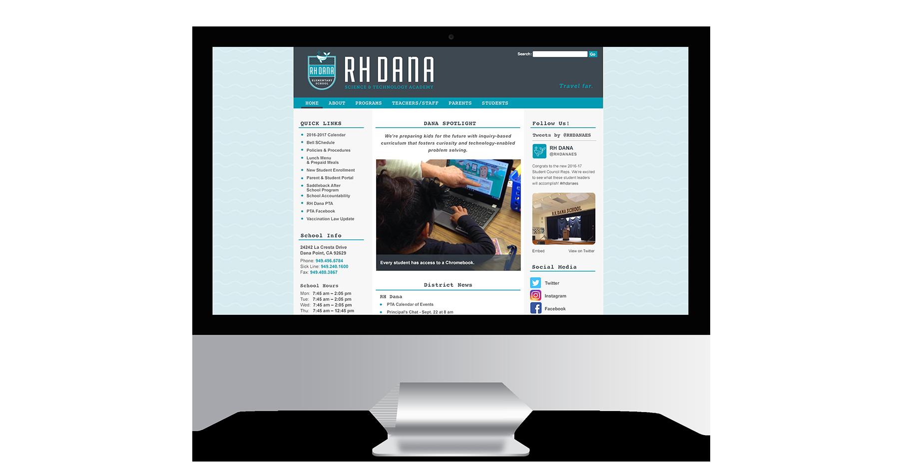 rh dana elementary school website design