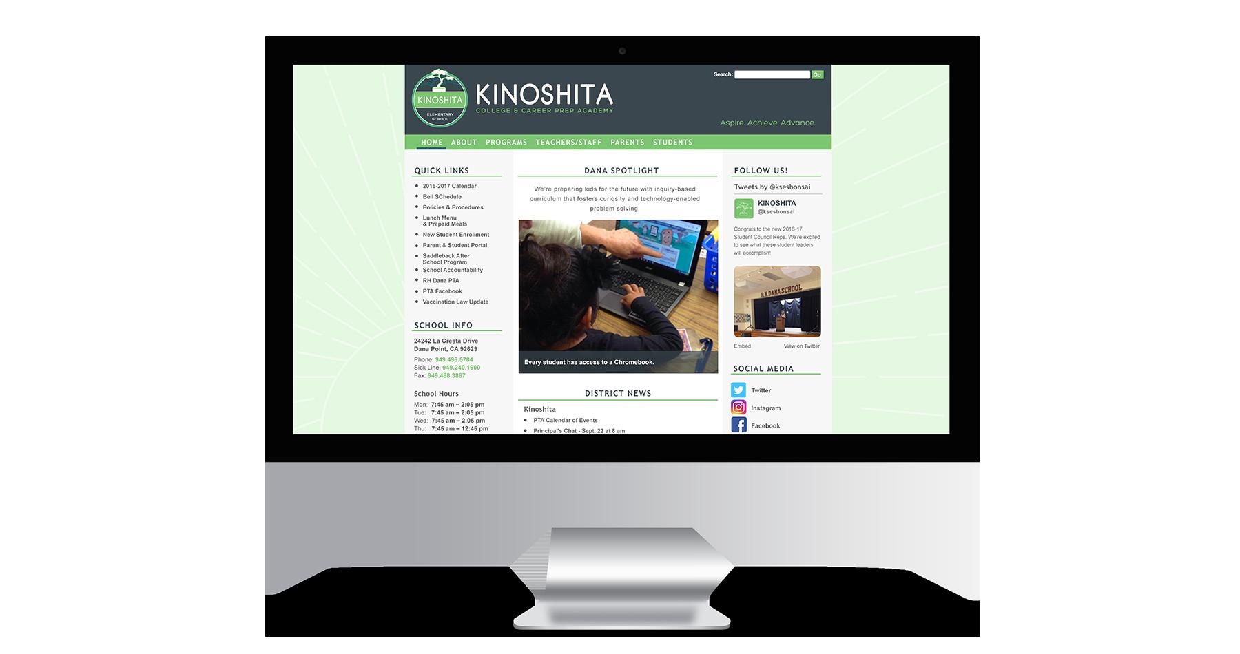 kinoshita elementary school website design