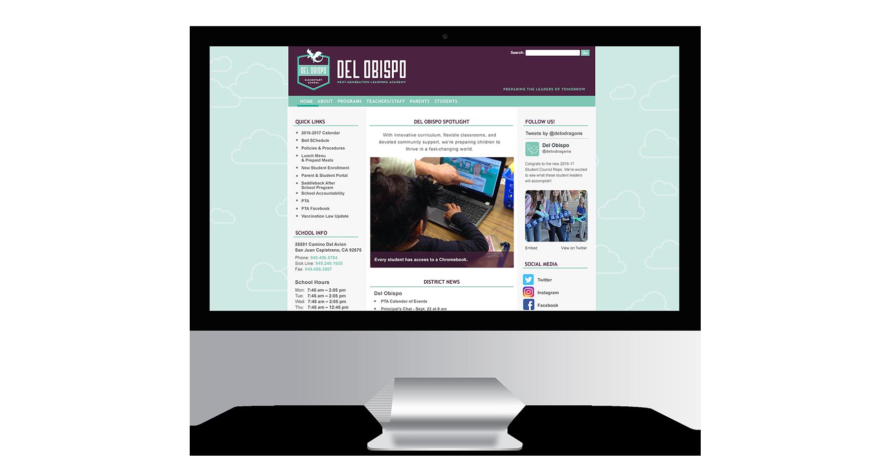 del obispo elementary school website design