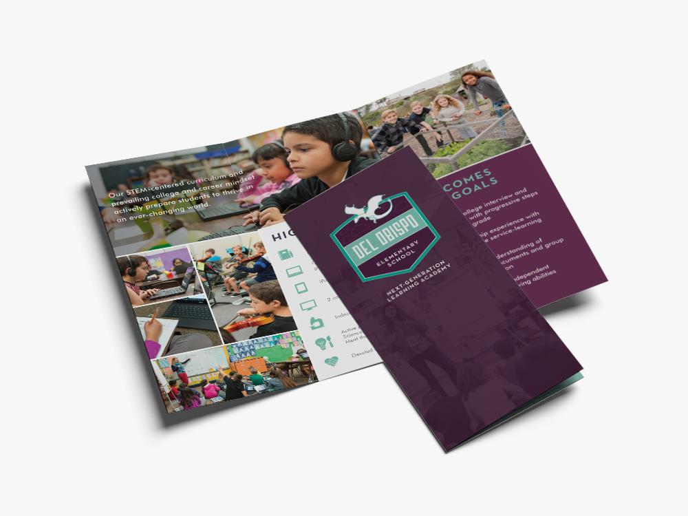 del obispo elementary brochure design