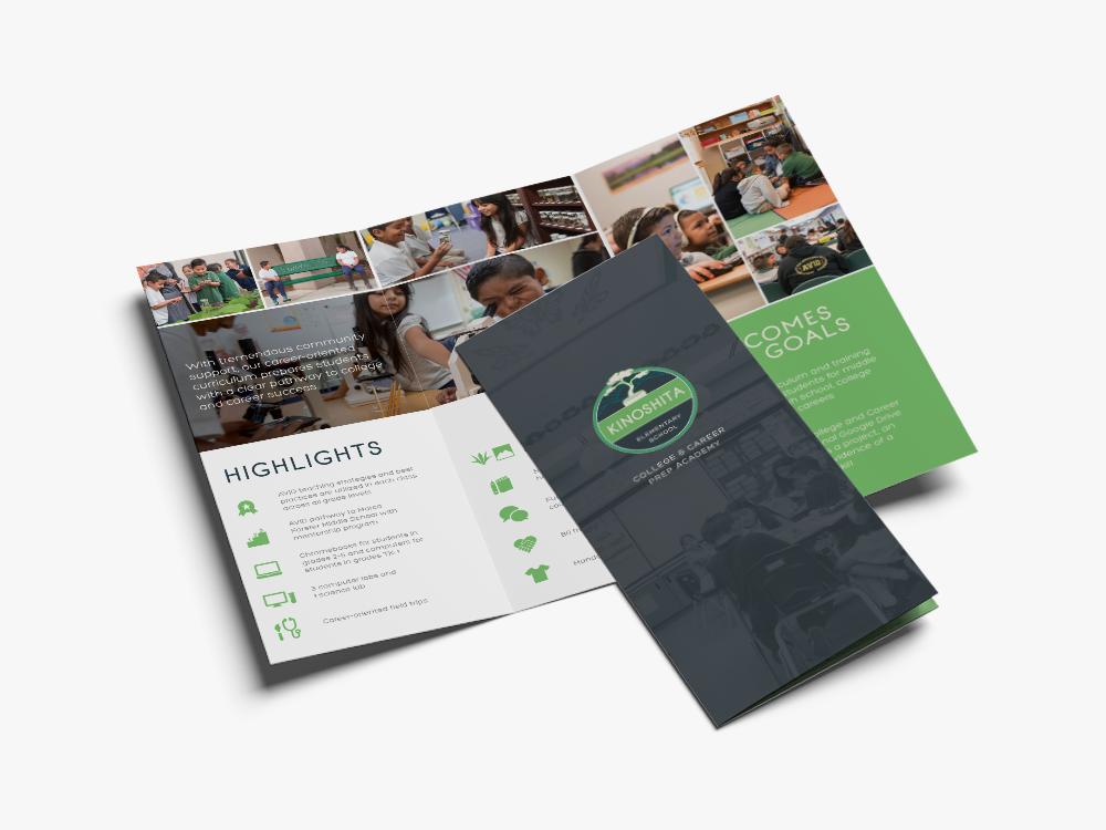 kinoshita elementary brochure design