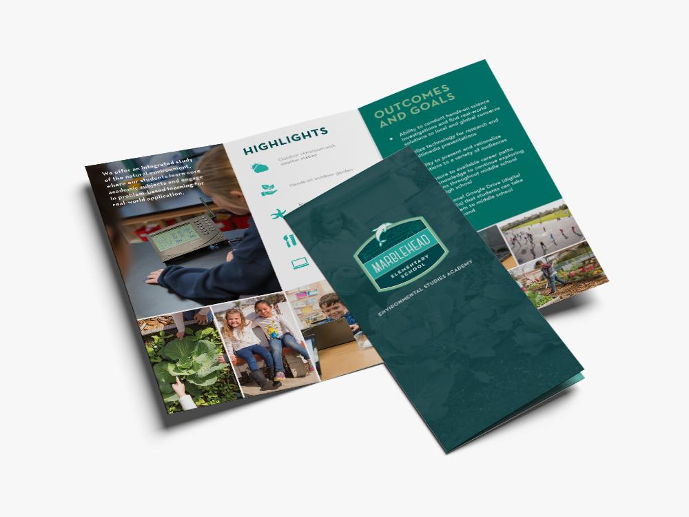 marblehead elementary brochure design