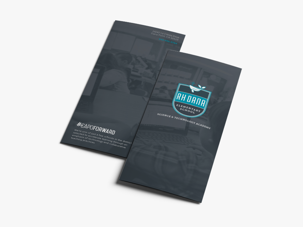 RH Dana Elementary brochure design