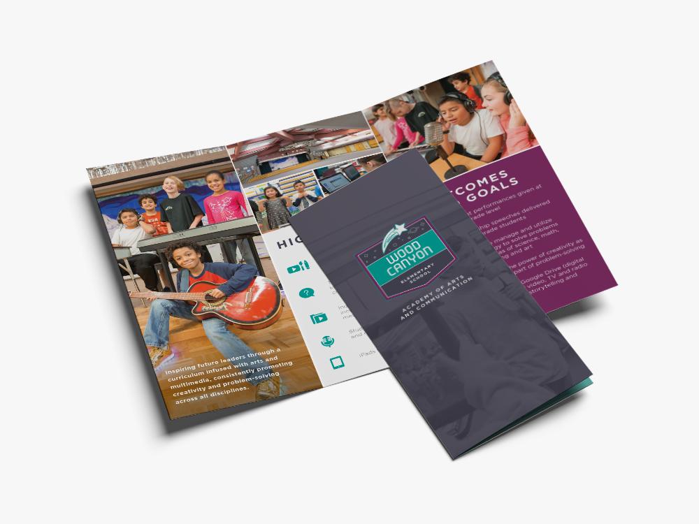 wood canyon elementary brochure design