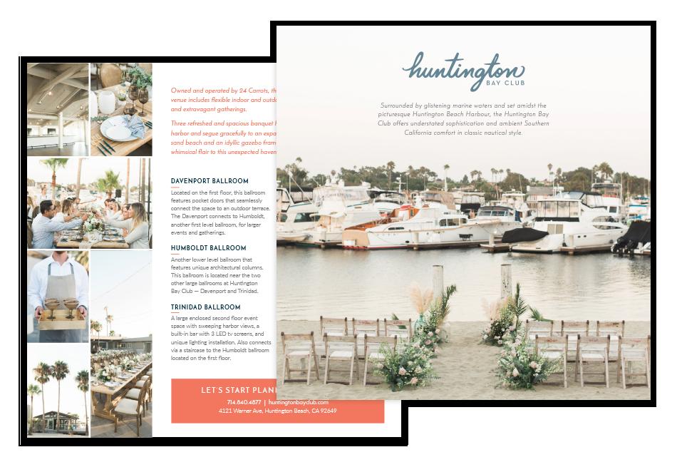 Huntington Bay Club venue postcard