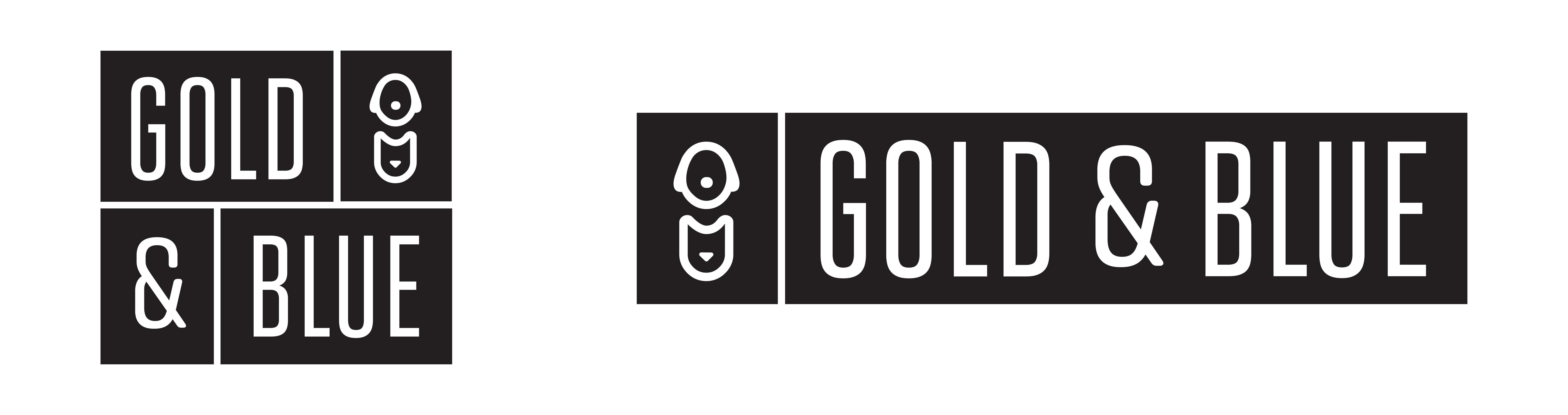 Gold and Blue Veterinary Wellness logo design