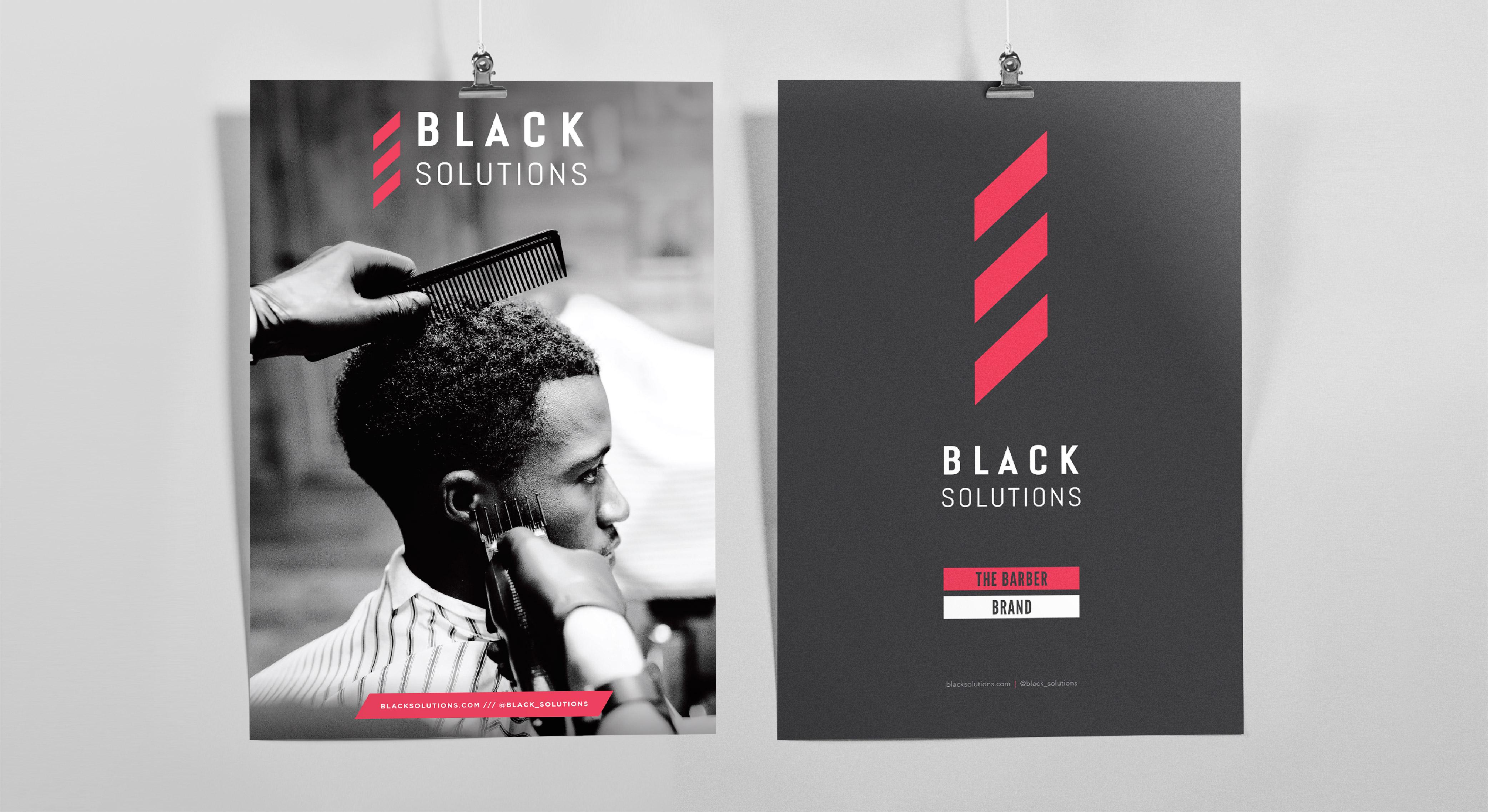 Black Solutions branded poster design