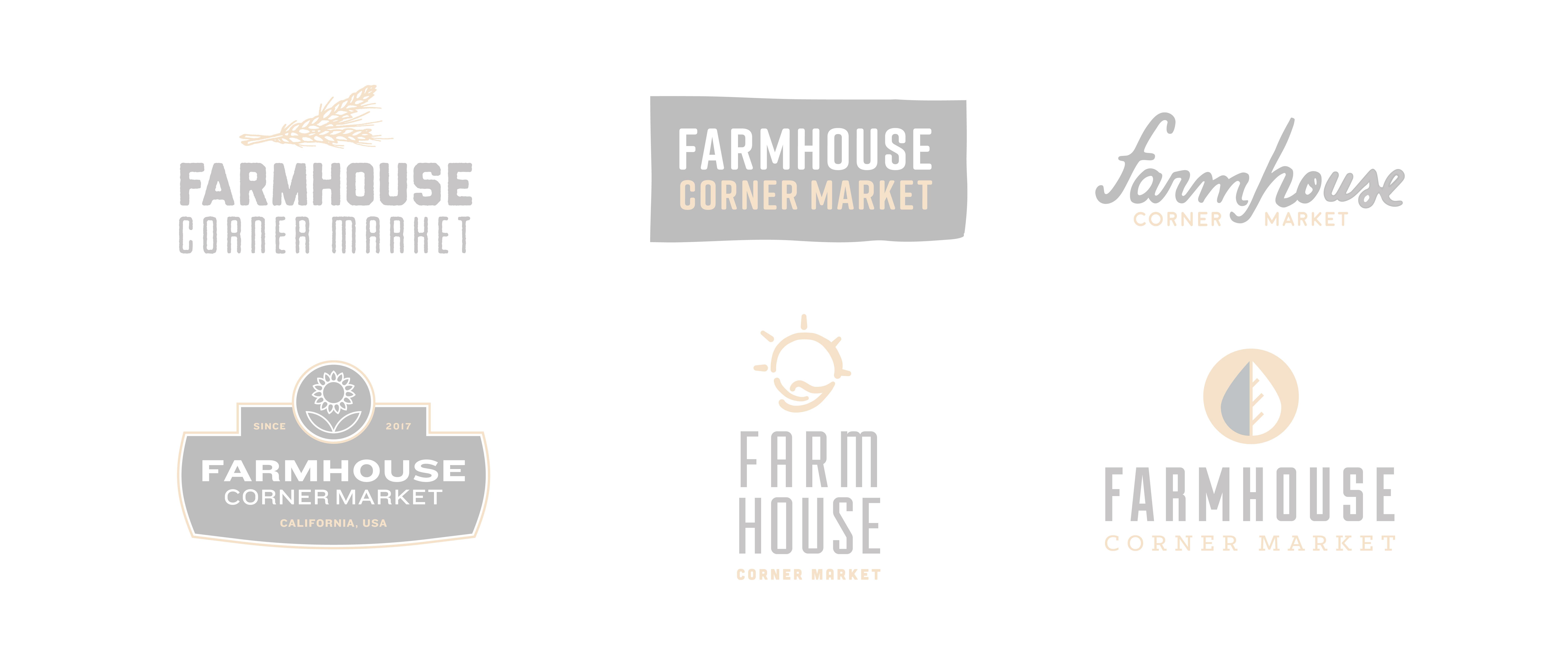 farmhouse logo concept exploration