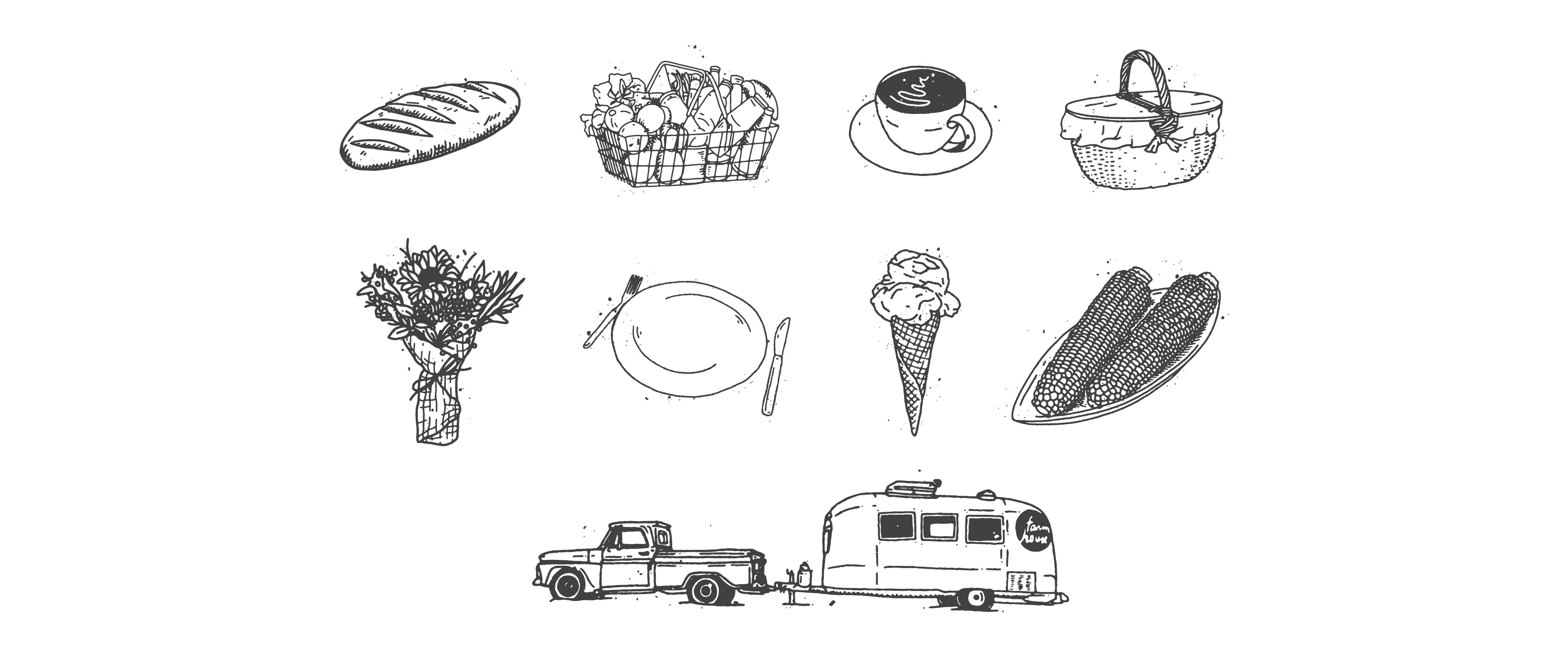 custom hand drawn illustrations