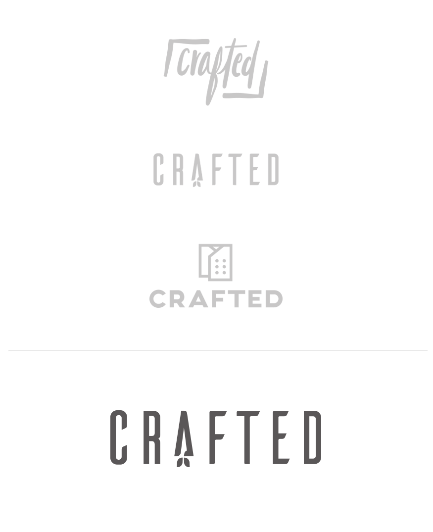 Crafted logo concepts