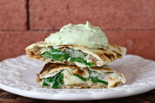 Veggie Quesadillas with Avocado Cream 2