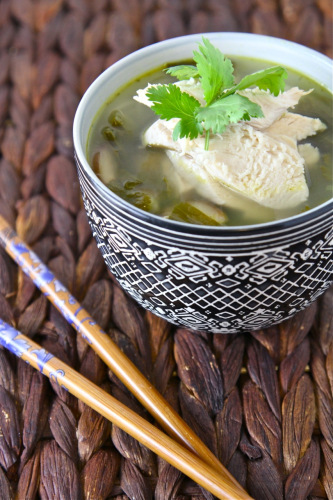 Summer Soup with Chicken