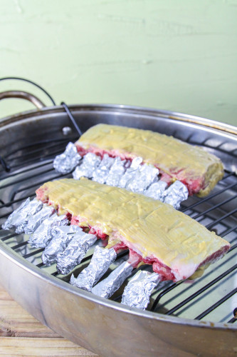 Roasting French Racks of Lamb