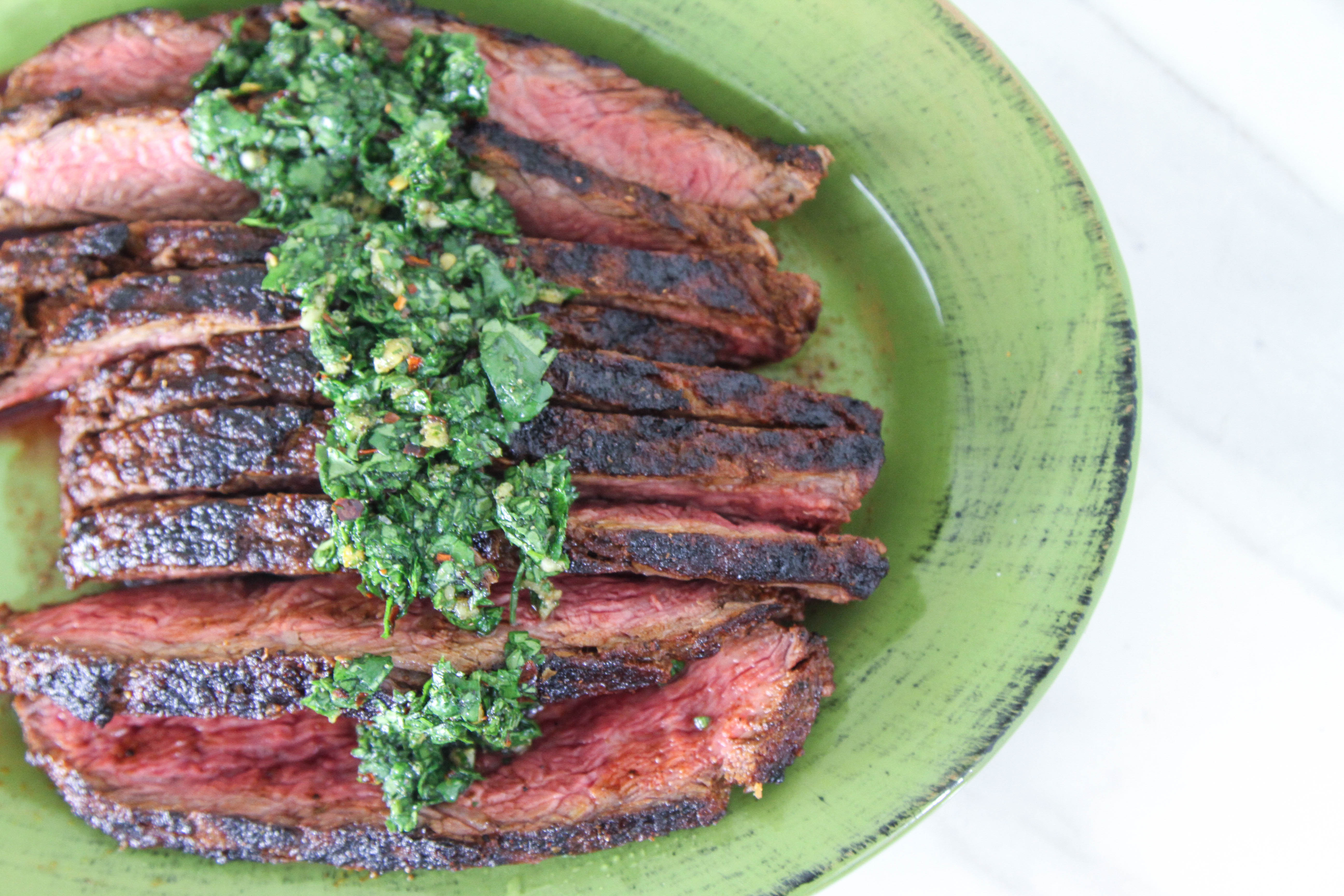 Beef Sirloin Flap with Chimichurri