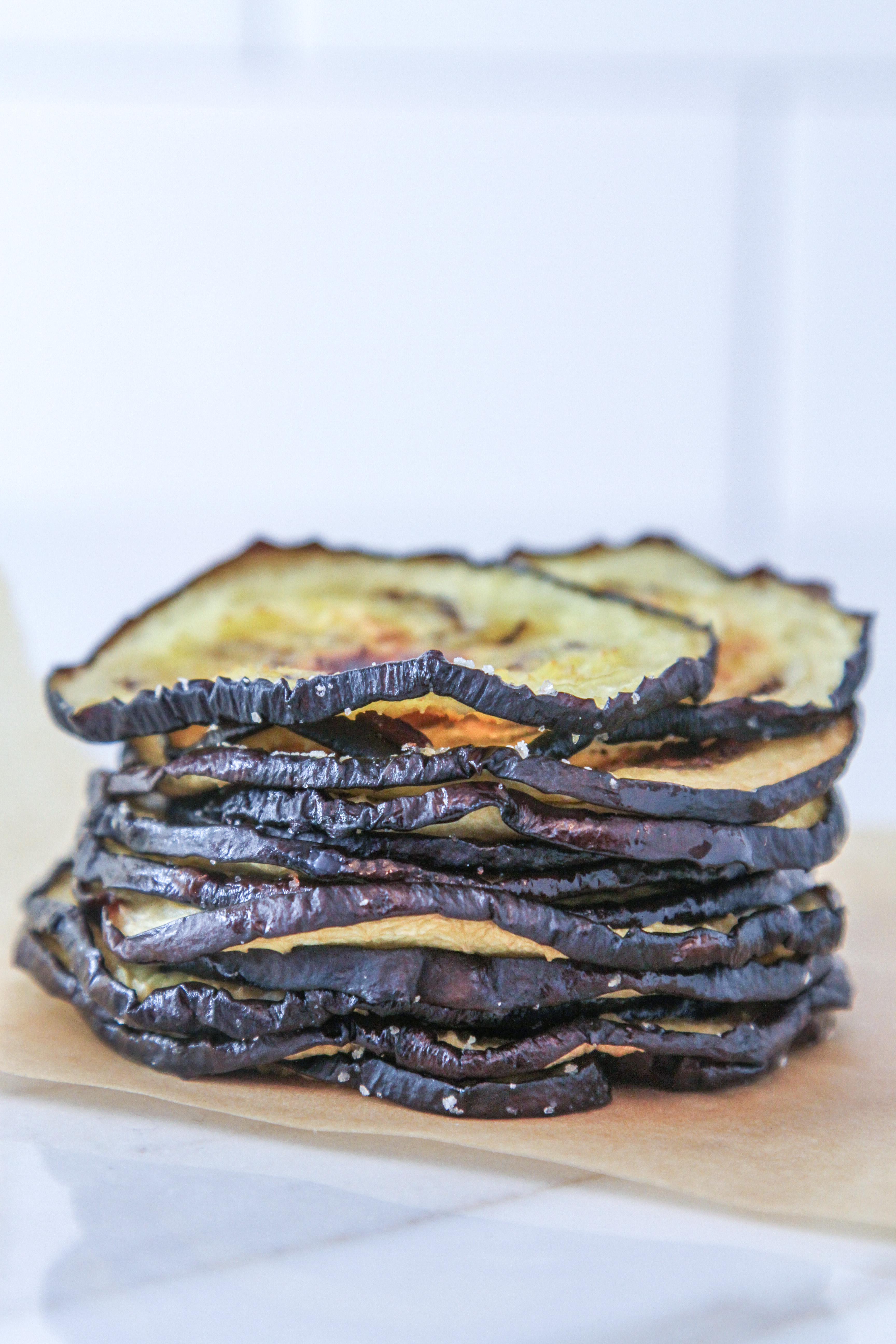 Stacked Roasted Eggplant Slices