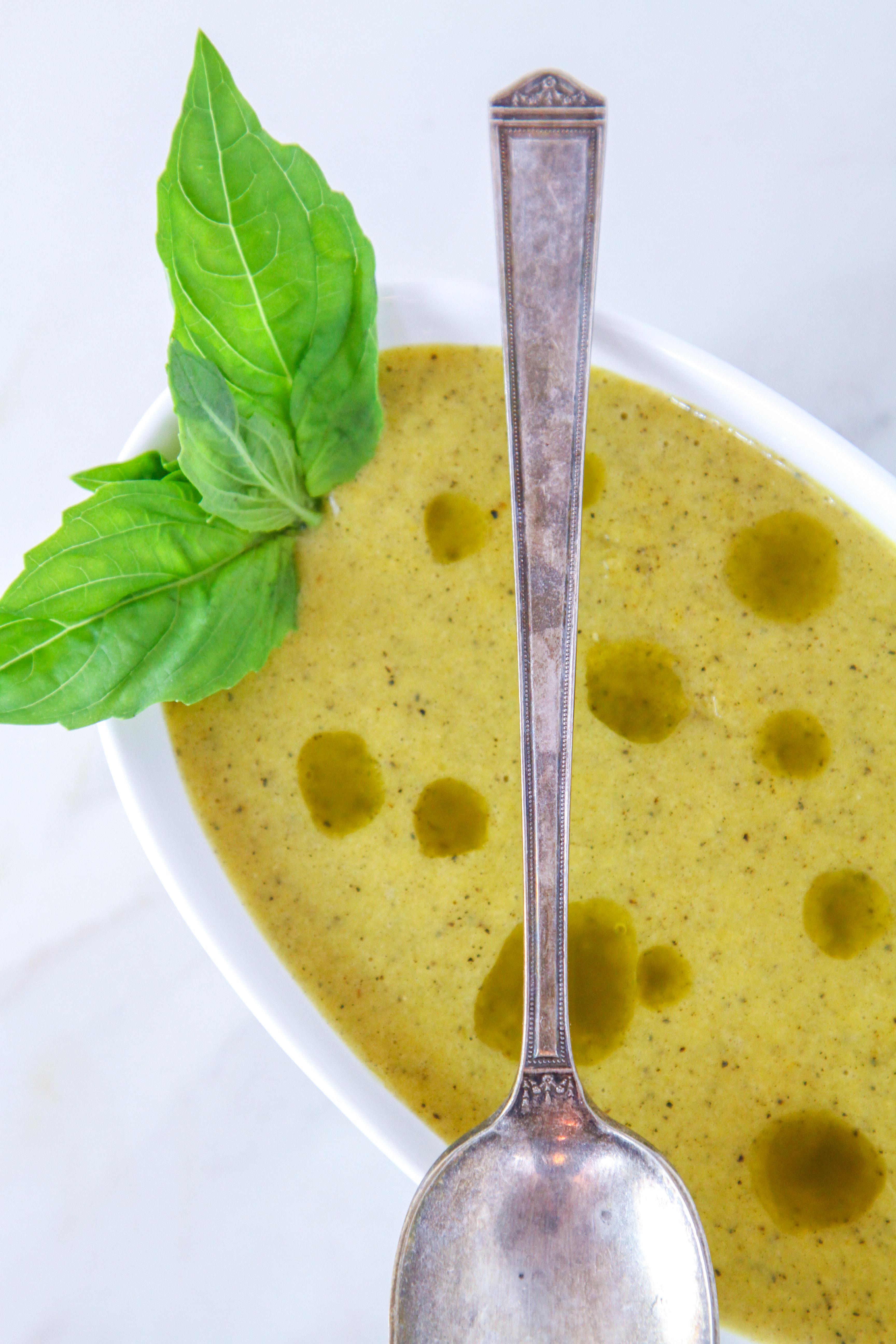 Charred Pepper & Sweet Corn Soup 2