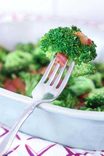 Bacon & Sesame Oil Broccoli