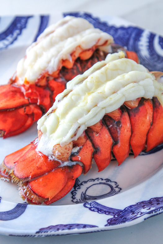 Broiled Butterflied Lobster Tails
