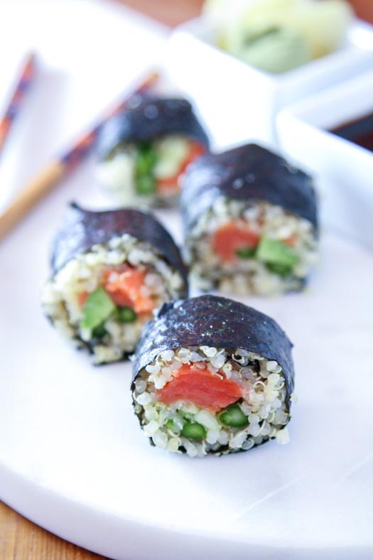 Quinoa Sushi with Salmon