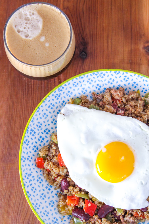 Bison Quinoa with an Egg