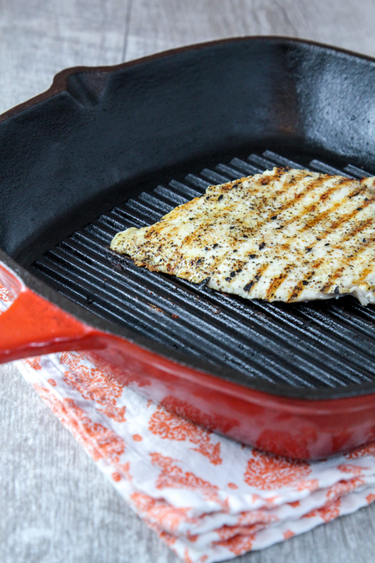 Grilled Chicken Cast Iron Grill Pan