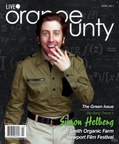 Simon Helberg Cover for Live OC Magazine. Image by Efren Beltran Photography