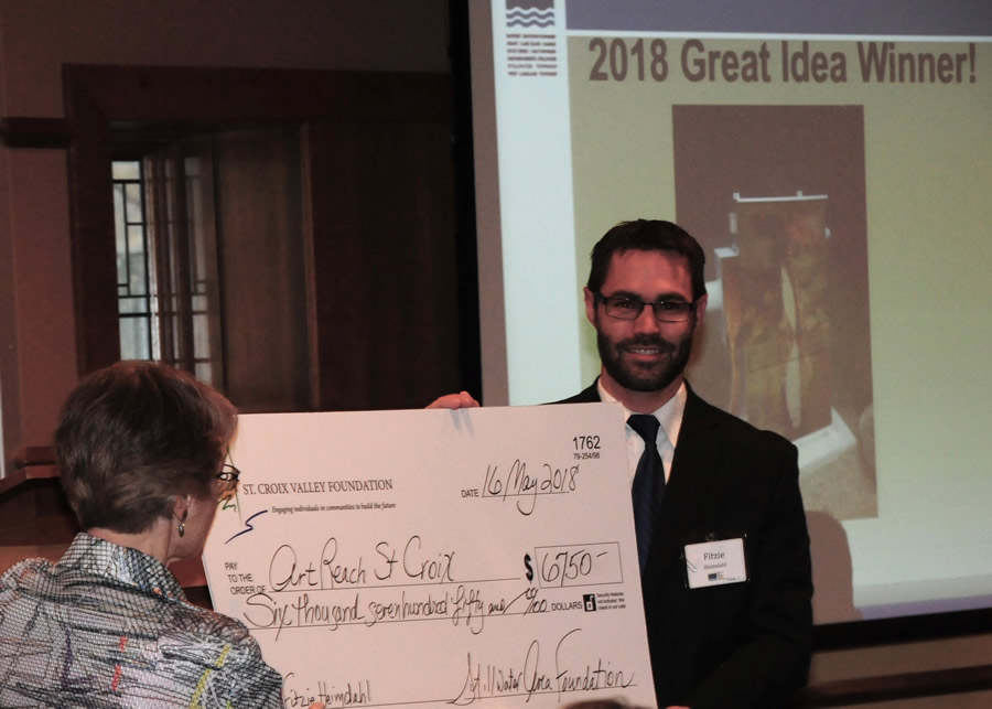 2018 Great Idea Grant goes to the Power of St. Croix Utility Box Mural Project