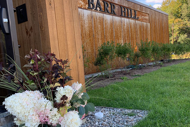 The new Barr Hill Distillery building and event space