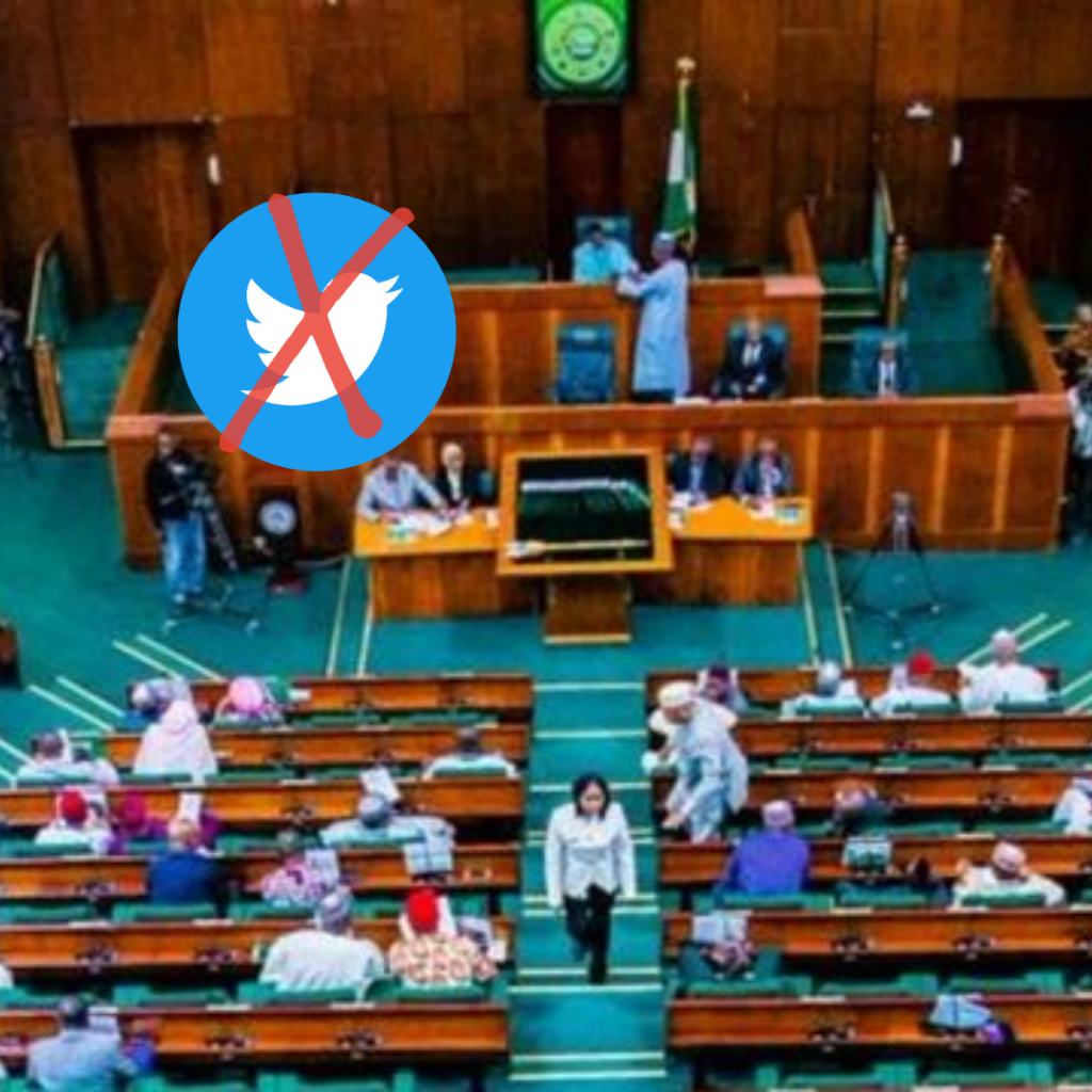 The House of Representatives has rejected the lifting of Twitter suspension.
